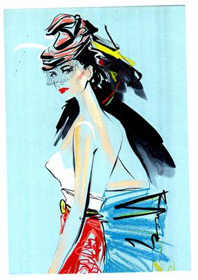 storyboard example created in retro of fashion illustration