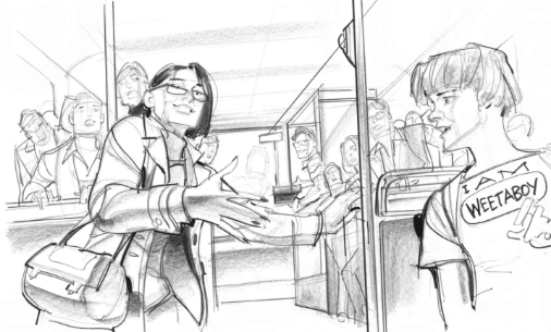 storyboards graphite pencil sample